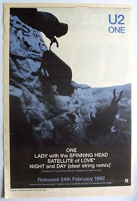 U2 1992 Poster Ad ONE