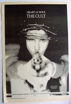 THE CULT 1992 Poster Ad HEART OF SOUL