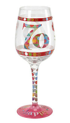 Here's To You 70th Glass (Kali Stileman) Birthday Wine Gift Party Novelty Fun