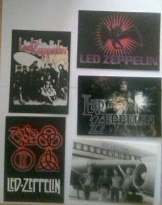5x Led Zeppelin official postcards.