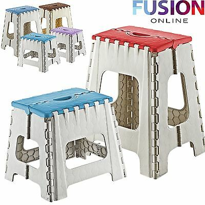 Step Stool Plastic Multi Purpose Folding Home Kitchen Foldable Easy Storage New