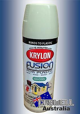 Krylon Fusion Plastic Paint 340gm - Honeydew Gloss - AUS Seller