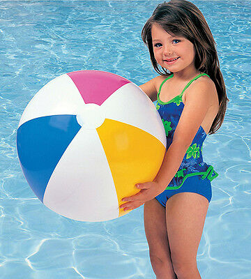 """Intex Glossy 20"""" Inflatable Panel Colorful Beach Balls In Polybag"""