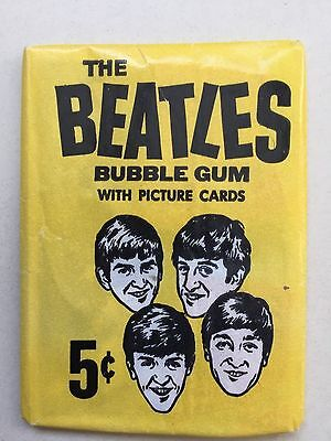 1964 ULTRA RARE BEATLES UNOPENED 5 CENT CANADA PRINT O-PEE-CHEE, TOPPS mint