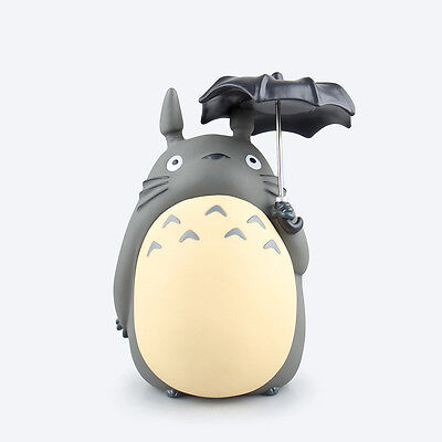 Cute STUDIO GHIBLI My Neighbor Totoro Figure Saving Box Piggy Bank 21cm New