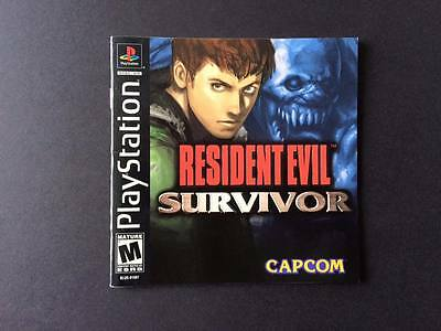 Resident Evil: Survivor (Sony PlayStation 1, 2000) - Manual only