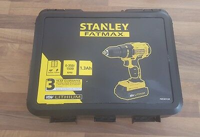 New Stanley FatMax FMC601 18V Cordless Hammer Drill Driver + 2 Battery & Charger