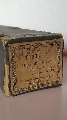 Pianola Roll - HORS D'OEUVRE Fox-trot Comer - 65-NOTE - BOXED - Aeolian Co