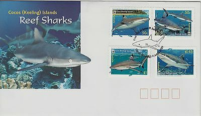 Cocos(Keeling) Islands 2005  REEF SHARKS set stamps  First Day cover
