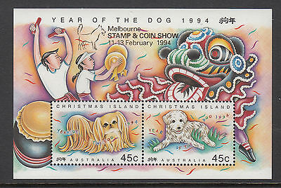 Christmas Island  1994 Year of the Dog sheet  ovp Melbourne Stamp & Coin show.