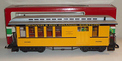 Lgb G-Scale # 3081 Denver & Rio Grande Western Passenger Combine Car - In Box