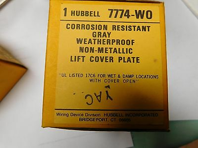 Hubbell 7774WO Lift Cover Plate Gray 50A Twist Lock Receptacle Wet/Damp location