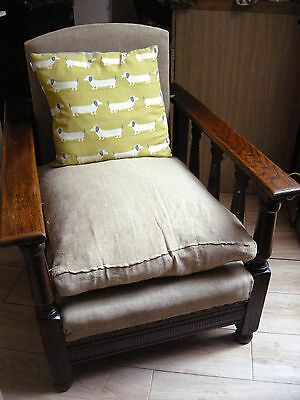 william morris / mission reclining armchairs X 2 and a 2 Seater