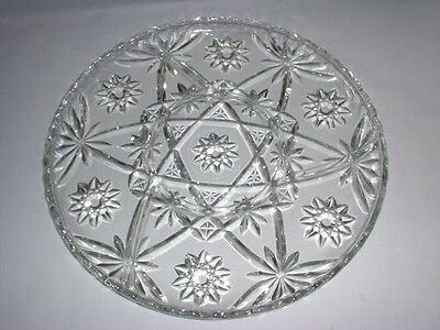 EAPC Early American Prescut 4 Part SWIRL RELISH Plate Server EX!