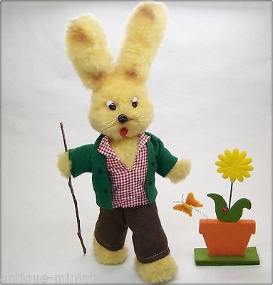 alter 41cm stehender OSTERHASE HASE OSTEREI * old standing 16 inch RABBIT EASTER