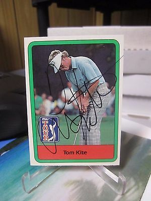 Tom Kite Auto Donruss 1982 Golf Autograph Hall Of Fame On Card Pga Tour