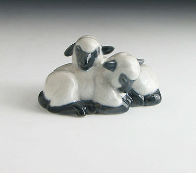 ROYAL COPENHAGEN SLEEPING LAMBS FIGURINE 2769 Porcelain