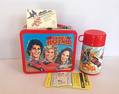 New Unused Mint Vintage 1983 Dukes Of Hazzard Lunchbox W/ Thermos, Papers, Tags