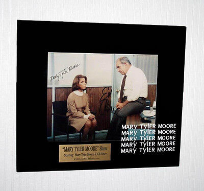 MARY TYLER MOORE & Ed Asner SIGNED Cast AUTOGRAPH Display, DVD, Frame, COA, UACC