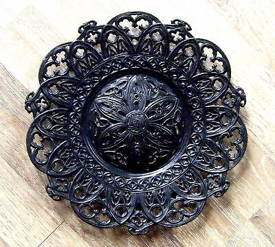 Antique openwork Kasli Imperial Russian marked Plate signed by Mochalin