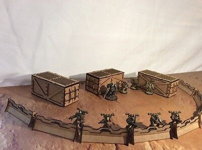 MDF Containers and barricades 28mm    Terrain/Scenery Warhammer/Infinity/Sci-fi