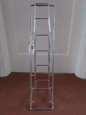 Chrome Metal 5 Tier Magazine Newpaper Storage Holder Rack