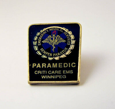 Paramedic Medical Pin - Criti Care EMS Winnipeg - Lapel Pin - PinBack - Brooch