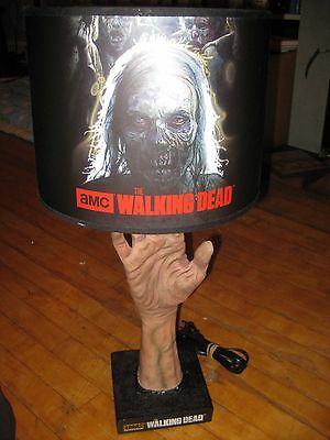 The Walking Dead Zombie Table Lamp Acceptable conditon !