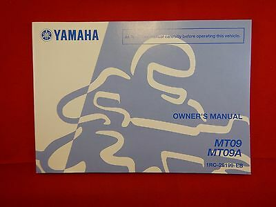 Genuine 2014 2015 Yamaha Mt09 Mt09A Owners Manual 1Rc-28199-Eb  Mt-09 Mt-09A