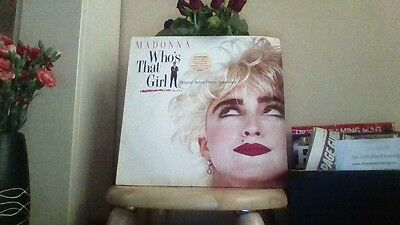 "Madonna Who's That Girl original Motion Picture Soundtrack LP Album 12"" Vinyl"