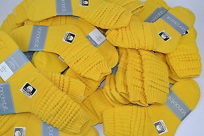 VINTAGE New Lot of 36 Pairs Cotton SLOUCH Baggy Socks Bright Yellow - 1980's