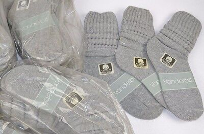 VINTAGE New Lot of 84 Pairs Cotton SLOUCH Baggy Socks Dark Gray - 1980's