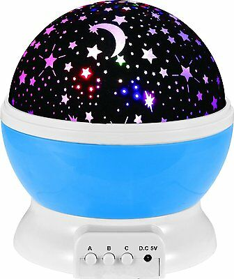 Baby Cot Nursery Star Sun Moon Night Light Projector Dreamshow Lamp Show Light