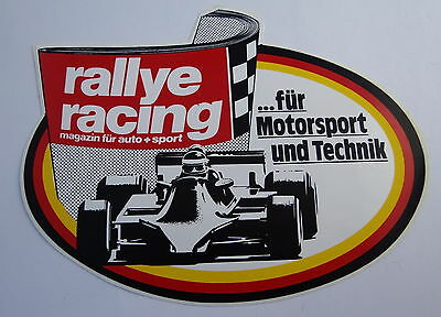 Aufkleber rallye racing Motorsport Magazin 80er Youngtimer Sticker Autocollant