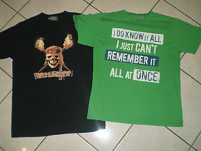 """Pirates Caribbean T-Shirt Size Youth Large 36"""" Chest & I Know It All  SeeDetails"""
