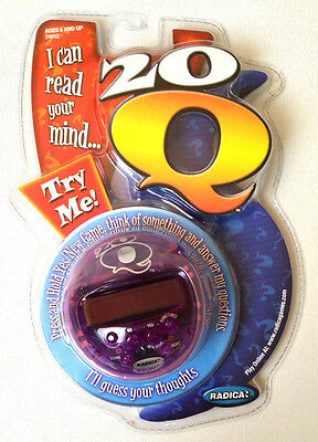 NEW Radica 20Q 20 Questions Handheld Interactive Electronic Game Mind Read FUN!