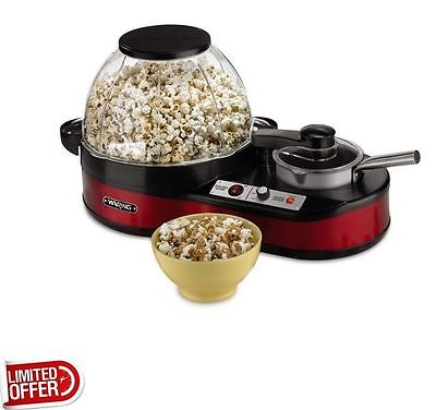 Waring Pro Electric Popcorn Maker with Melting Station WPM1000, Up to 20 Cups