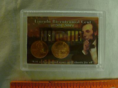 2009 P&d Presidential Years Lincoln Bicentennial Cent Set In Colorful 2X3 Holder