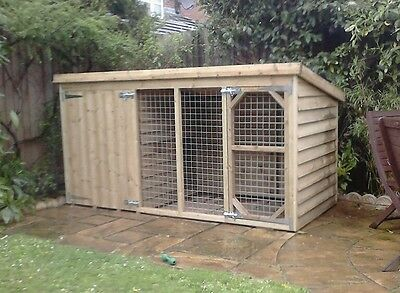8 x 4 x 4ft tall tanalised dog kennel and run
