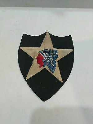 Original WW1 Patch*HQ CO*2nd Division*Indian Chief*