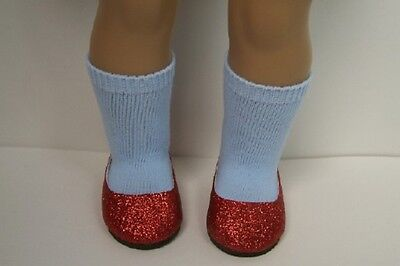 """Debs RED Glitter Slipper Flats Doll Shoes For 18/"""" American Girl"""
