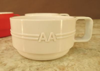 Vtg Retro Prolon American  Airlines On Flight Stacking Tea/coffee Cups United Ex