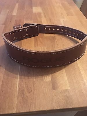 Rogue Fitness Olympic Ohio Leather Lifting Belt * Size Large * Crossfit *