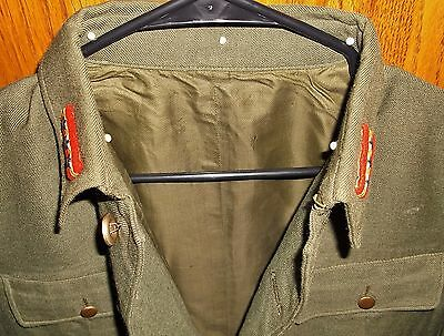 Original WW2 SERGEANT MAJOR Japanese IJA Combat Uniform w/ Rank Insignia Jacket