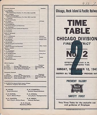Chicago Rock Island & Pacific - Chicago Division 1st District - No 2 - Sept 1943