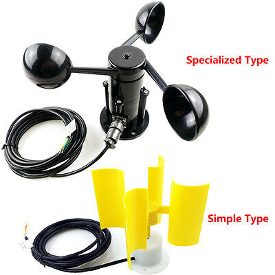 New Wind Speed Sensor Voltage Signal Output Anemometer 360Degree for Outdoor Use