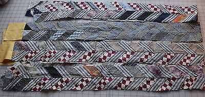 4 long 1890-1940's Chevron strips, very graphic and dramatic, borders