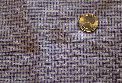 Large piece of vintage feed sack, Lavender check overall