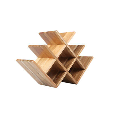 WINE RACK Luxurious Natural Acacia Wood 8 Bottle Holder Storage Alcohol PRESENT
