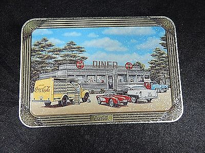 "Coca-Cola Coke Tin Metal Canister W/ LID HAS COKE DINER ""SIGN OF GOOD TASTE"""